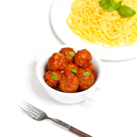 Meatballs in tomato sauce with Spaghetti  photo