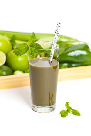 green vegetable: Green vegetable smoothie Stock Photo