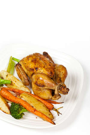 roasted chicken: Roasted chicken and vegetables