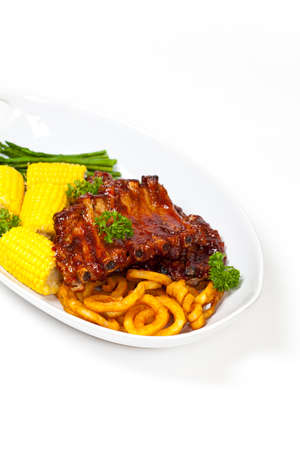 Barbecued ribs photo