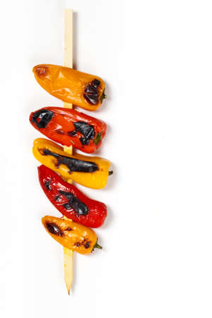 Mini Sweet Pepper Skewers  Selective focus