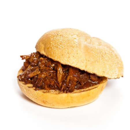 Pulled pork sandwich Standard-Bild