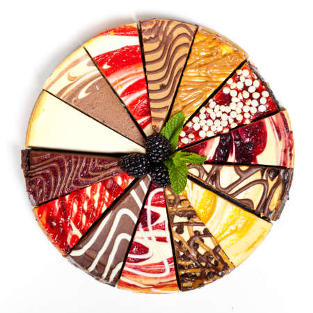 14 Slice Gourmet Sampler Cheesecake