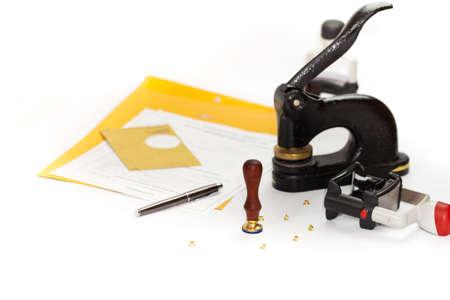 Notary public Embosser, Stamp, Stapler & Puncher