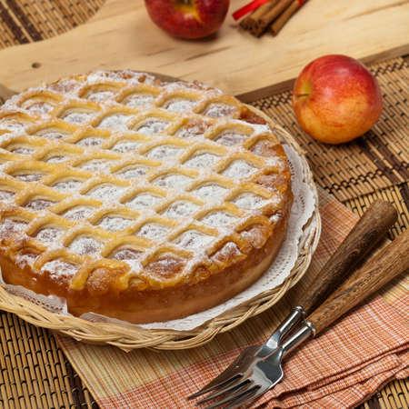 ready to eat: Homemade Organic Apple Pie Dessert Ready to Eat