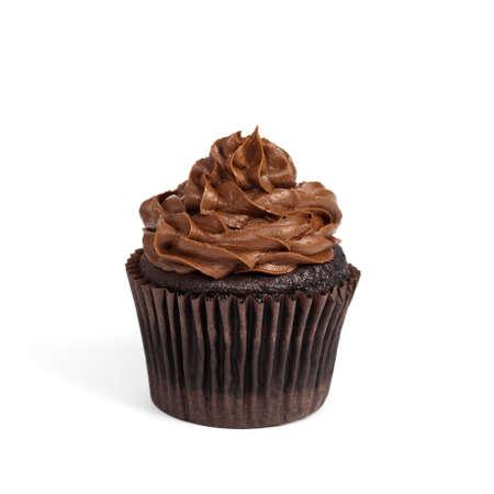 Gourmet chocolate cupcakes. Selective focus.