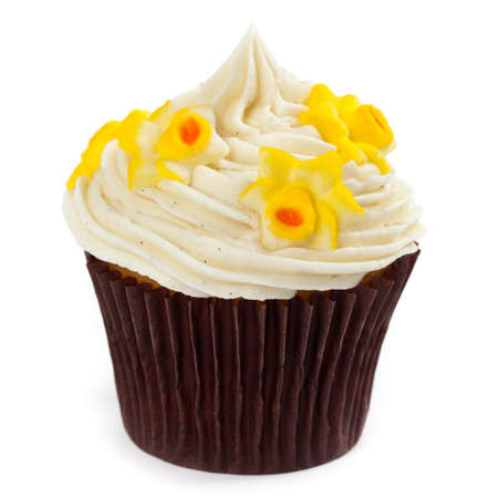 Easter cupcake on a white background. Selective focus. photo