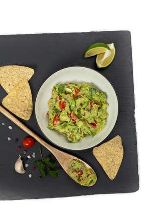 guacamole: Homemade Guacamole. Selective focus.