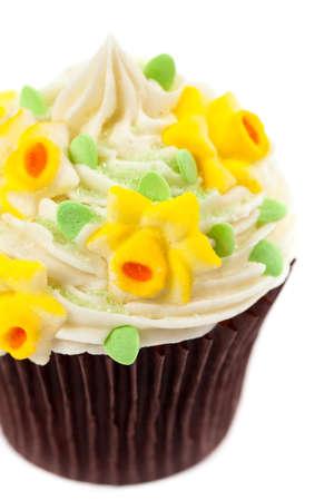 Gourmet Spring Easter Cupcakes. Selective focus. photo