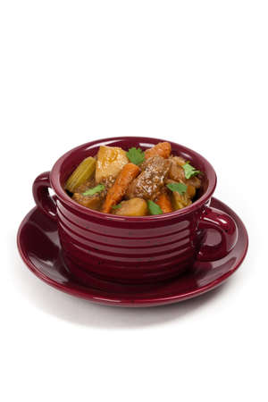 Goulash: Homemade Slow Cooker Beef Stew. Selective focus. Stock Photo