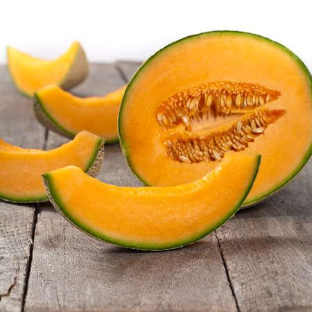 Cantaloupe Melon. Selective focus. Stock Photo