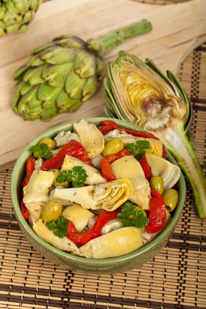 artichoke: Artichoke Salad. Selective focus.