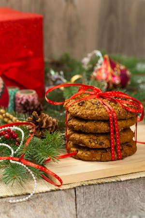 クリスマスのクッキー。選択と集中。 写真素材