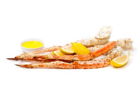 Snow Crab Legs. Selective focus.