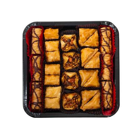 baklava: Ramadan Sweet - Baklava with almonds. Selective focus.