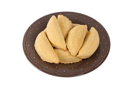 baku: Ramadan Sweet called Shekerbura from Azerbaijan. Selective focus. Stock Photo