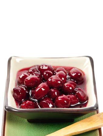 preserve: Dogwood jam isolated on white background. Selective focus. Stock Photo