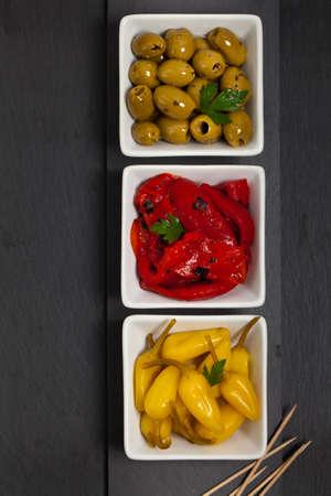 antipasto: Antipasto Appetizers. Selective focus.