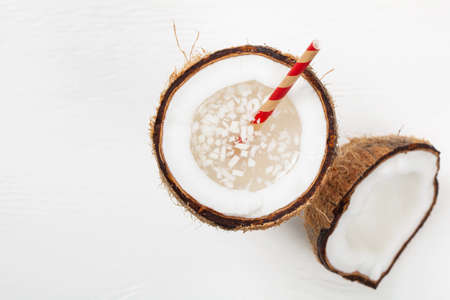 pulp: Coconut Water with Pulp. Selective focus.