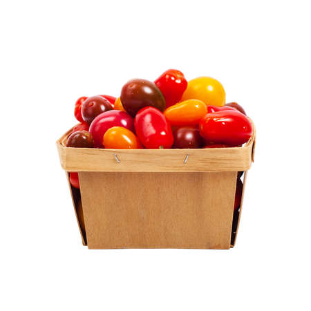medley: Cherry Tomato Mixed Medley Isolated on white. Selective focus.