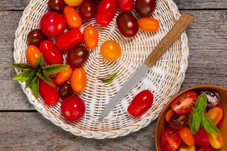 medley: Cherry Tomato Mixed Medley. Selective focus.