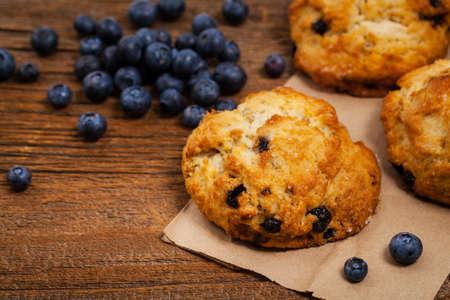 Blueberry Scones Pastry. Selective focus.