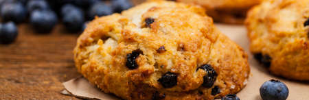 Blueberry Scones Pastry. Selective focus.
