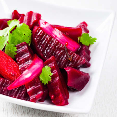 Pickled Marinated Beet Salad. Selective focus.
