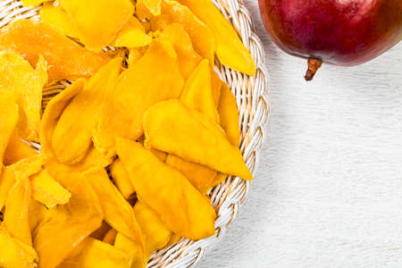 Dried Mango Fruit. Selective focus. 免版税图像