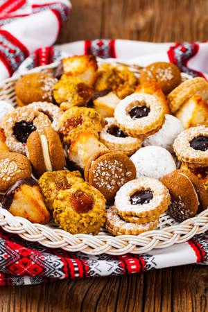 Assorted Cookies. Selective focus. Zdjęcie Seryjne
