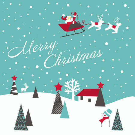 Retro Christmas Card Stock Vector - 10796730
