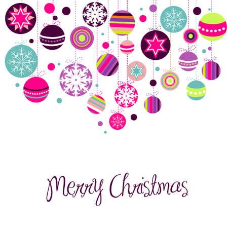 Ornements de Noël rétro Banque d'images - 10796735