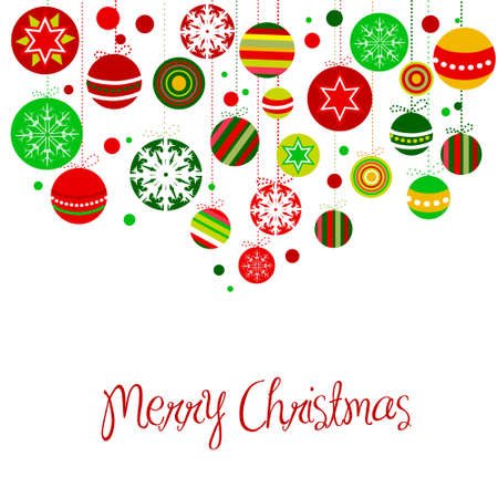 Retro Christmas Balls. Standard-Bild - 10796734