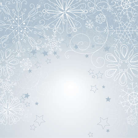 silver christmas background Ilustracja
