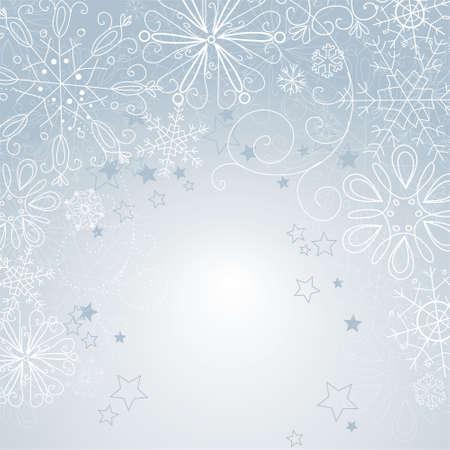 snow flakes: zilveren Kerst achtergrond