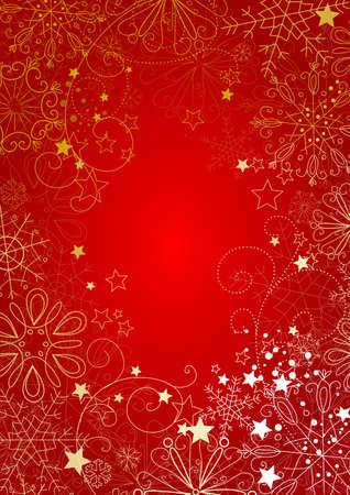 snow falling: Sfondo Natale rosso