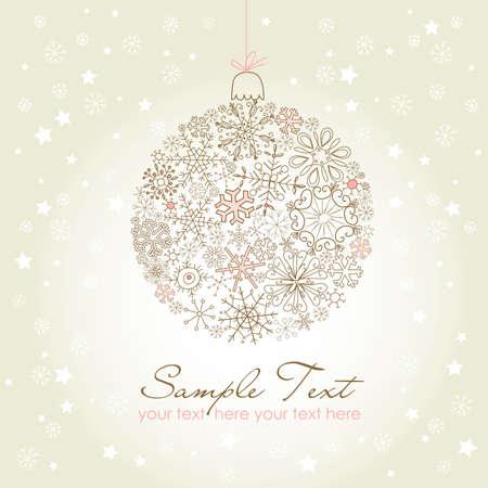Beautiful Christmas ball illustration. Christmas ornamen made of snowflakes Vector