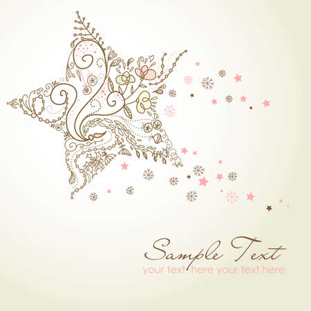Beautiful Christmas Star illustration. Christmas Card Vettoriali
