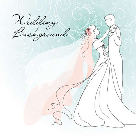 heiraten: Hochzeit Hintergrund Illustration