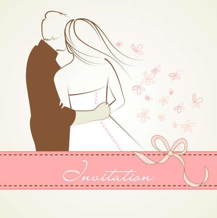 heiraten: Hochzeits-Hintergrund Illustration