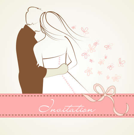 happy couple: Wedding background