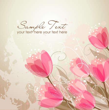 translucent: Romantic Flower Background  Illustration