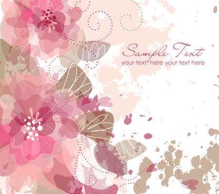 flora: artistic flower background Illustration