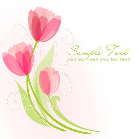 Fondo floral con tulipanes Foto de archivo - 10937303