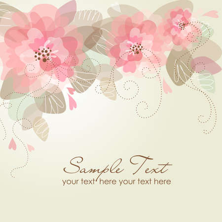 greeting season: Romantic Flower Background