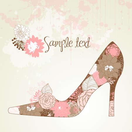 forme: J'aime les chaussures! Illustration
