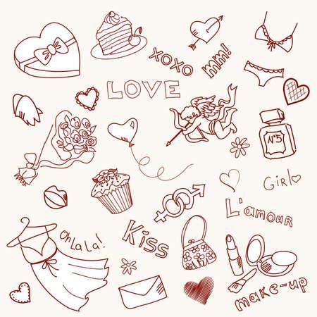chic panties: Valentine Doodles