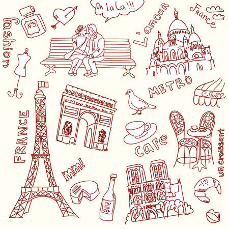 coeur: love in paris doodles