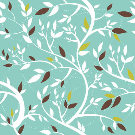 Vector seamless pattern with branches  Vector
