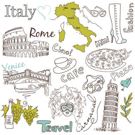 mil�n: Lugares de inter�s en Italia Vectores